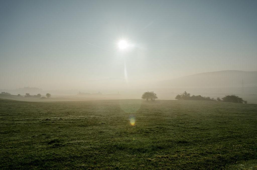Nebel-sonnenaufgang