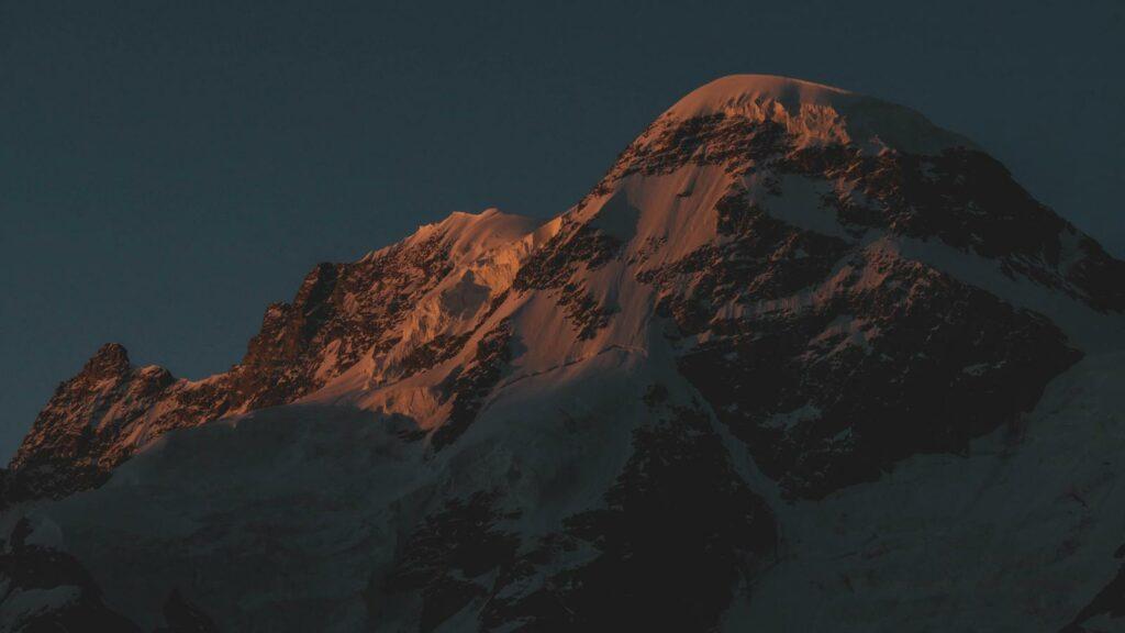 Breithorn im Sonnenuntergang