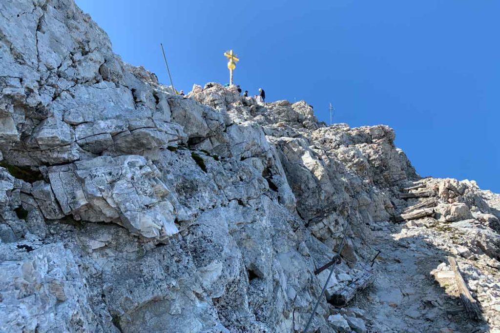 Die letzten Meter vor dem Gipfel der Zugspitze