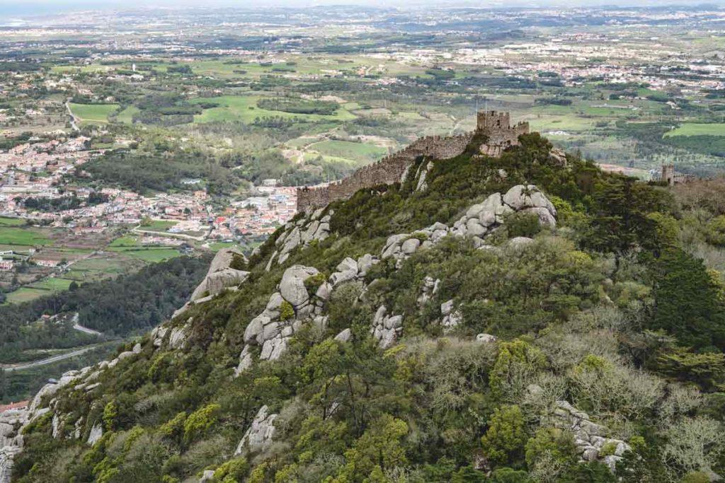 Die Burg in Sintra - Castelo dos Mouros - Maurenburg