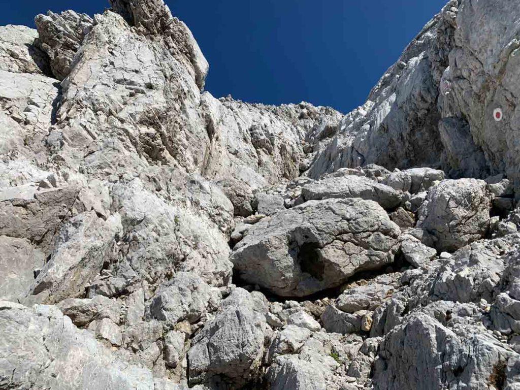 Südwand Watzmann Abstieg durch das Schönfeld - Watzmannüberschreitung