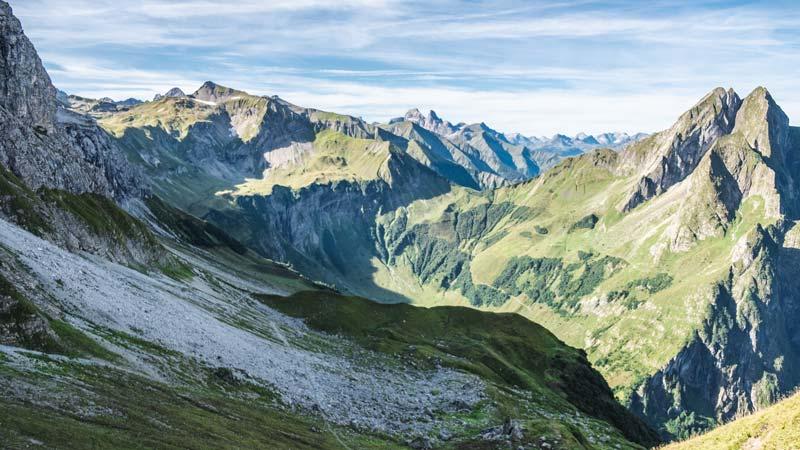 Ausblick auf das Allgäu - Alpen