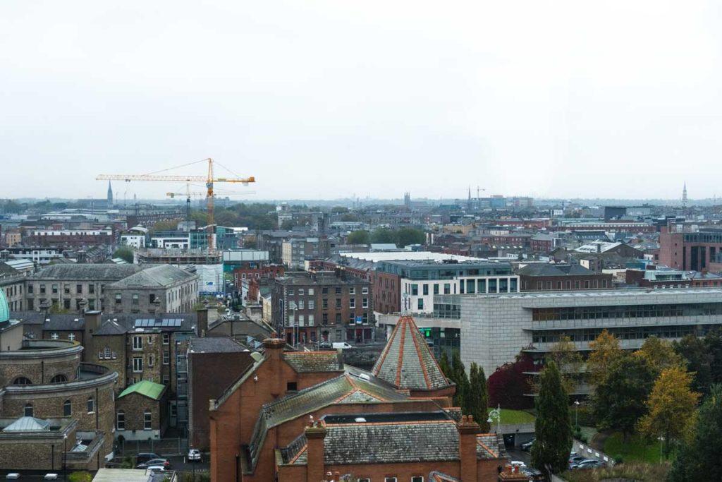 Ausblick Dublinia auf Dublin
