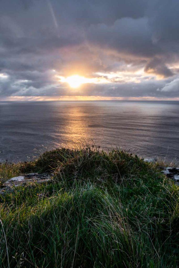 Sonnenuntergang über dem Atlantik, fotografiert von Slieve League