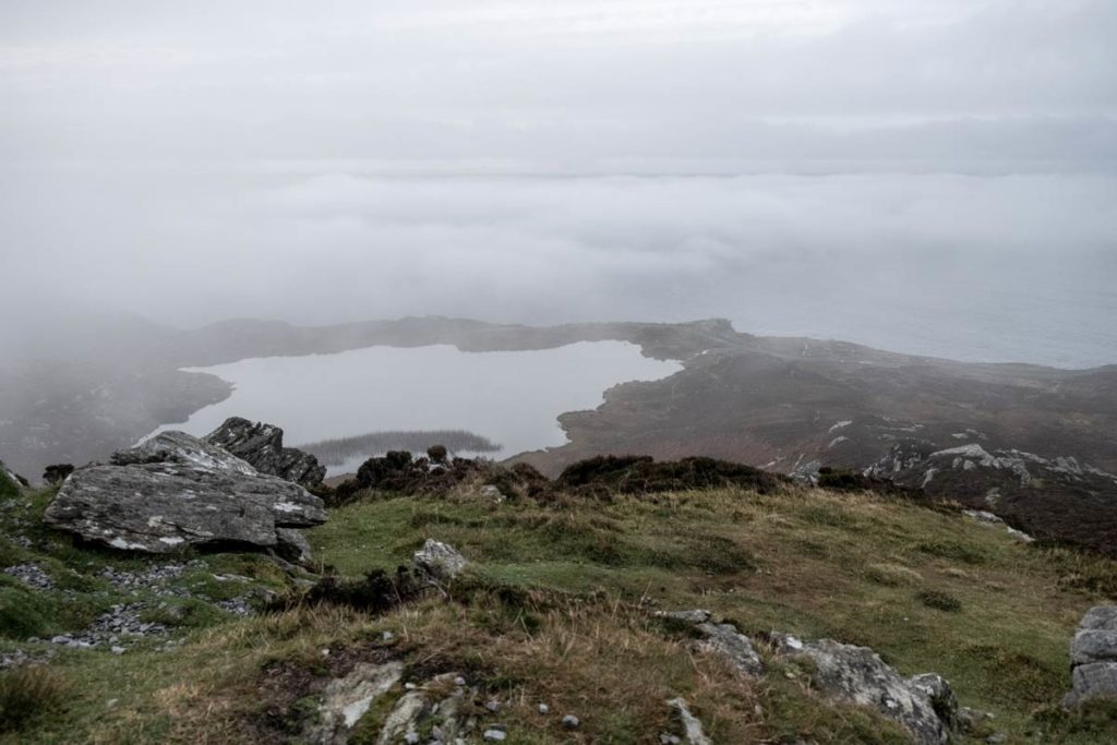 Slieve League im Nebel