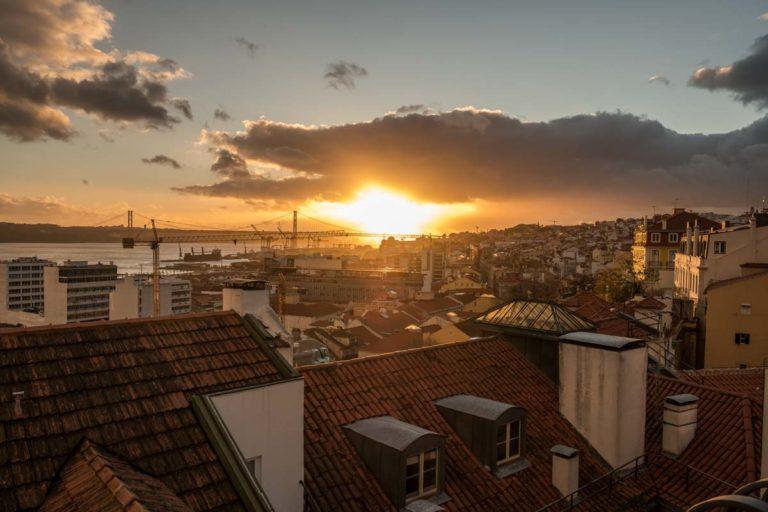 Sonnenuntergang Lissabon - Aussichtspunkt