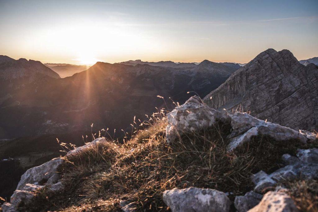 Watzmannüberschreitung Sonnenaufgang am Morgen