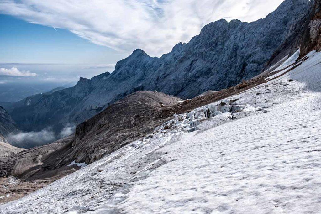 Höllentalferner - Gletscher auf der Tour zur Zugspitze durch das Höllental