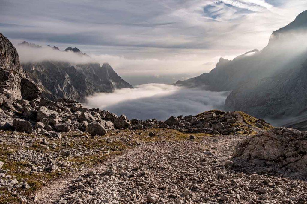 Wanderung durch die Zugspitze - Nebel im Höllental