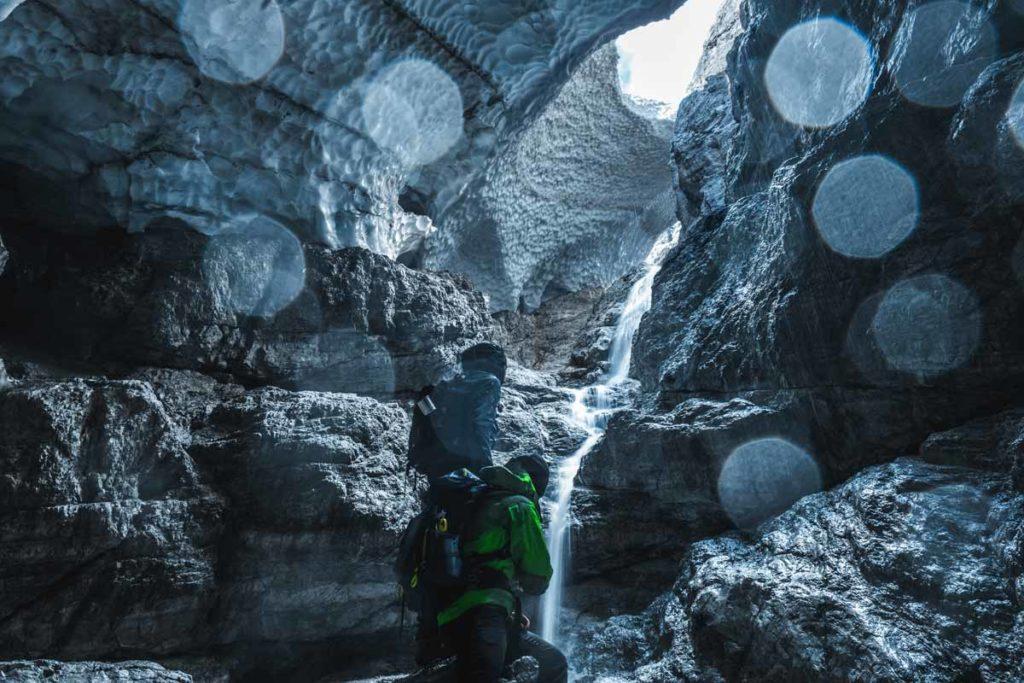 Hier werden die Dimensionen der Eiskapelle klar
