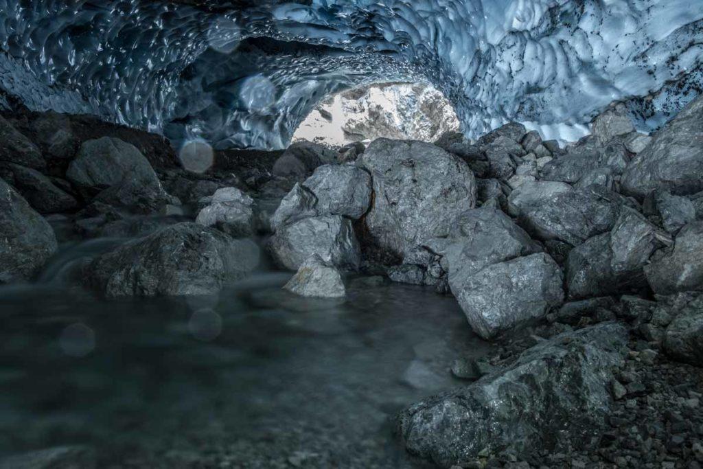 Das Innere der Eiskapelle