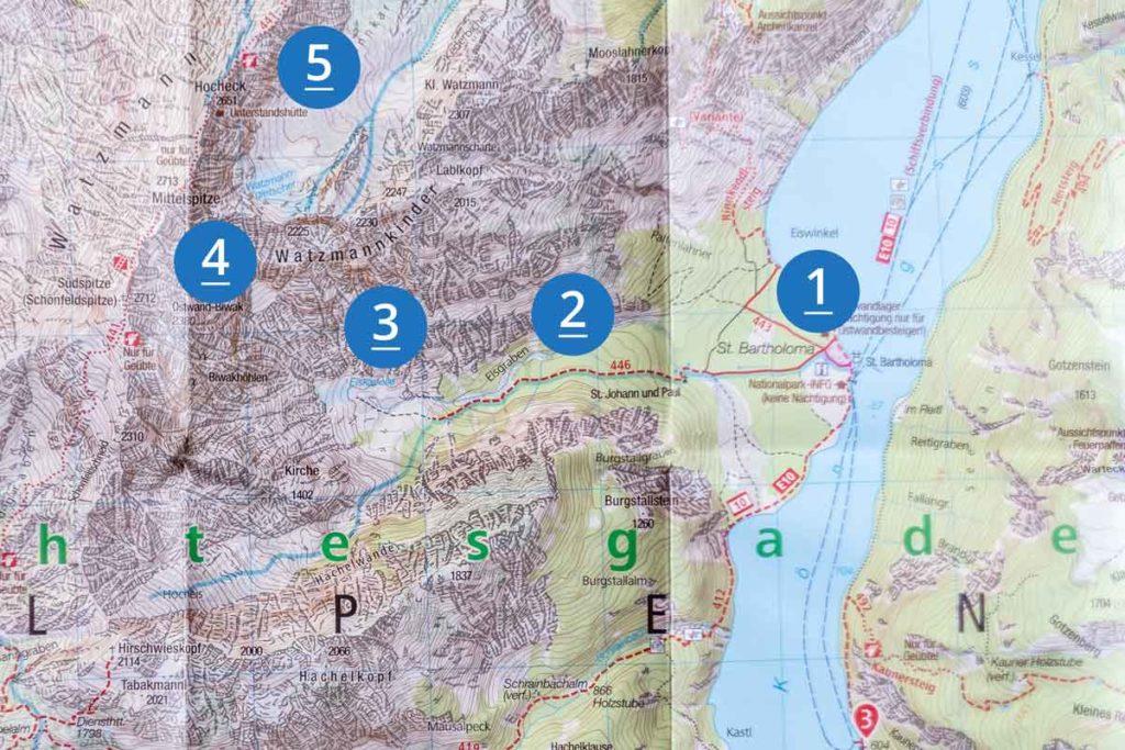 Karte Eiskapelle