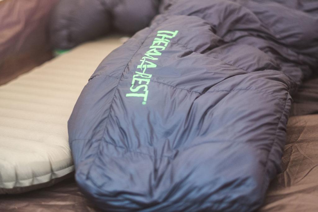 Ein perfektes Team, Schlafsack und Isomatte von Thermarest