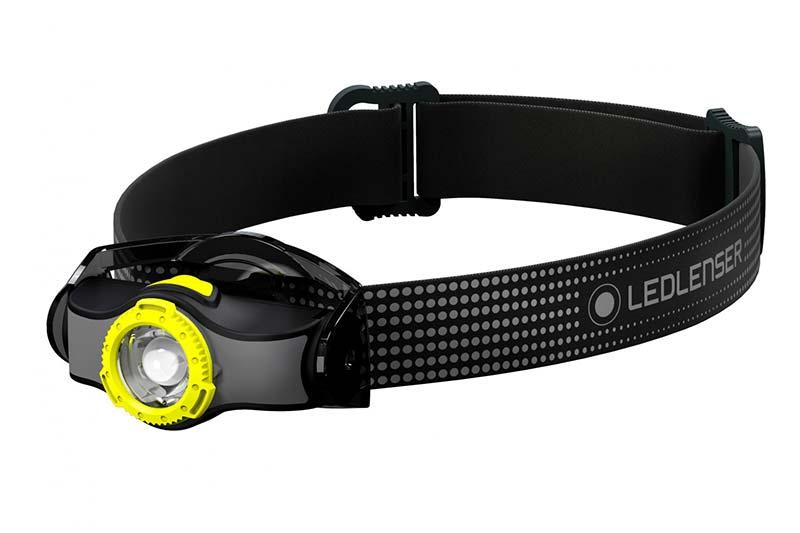 Kopflampe mit einzelnem elastischen Stirnband