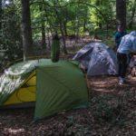 Zelten im Wald auf meiner ersten Fernwanderung