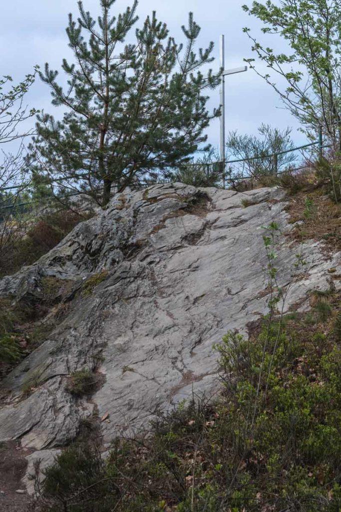 Das Gipfelkreuz der Ehrensteinsley