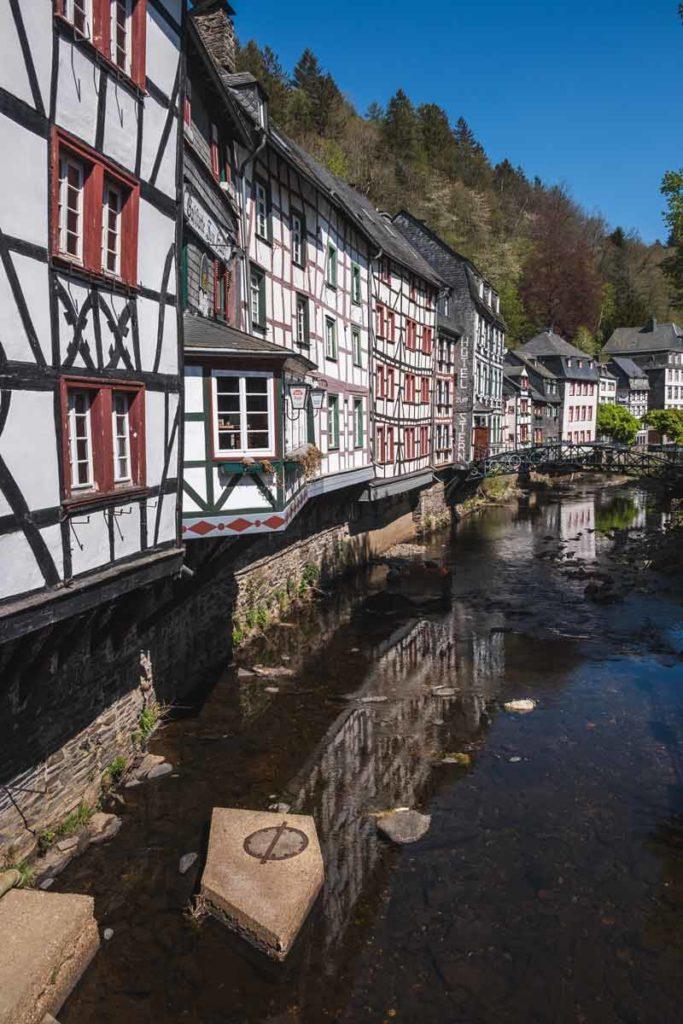 Der berühmte Blick auf die historische Altstadt Monschaus