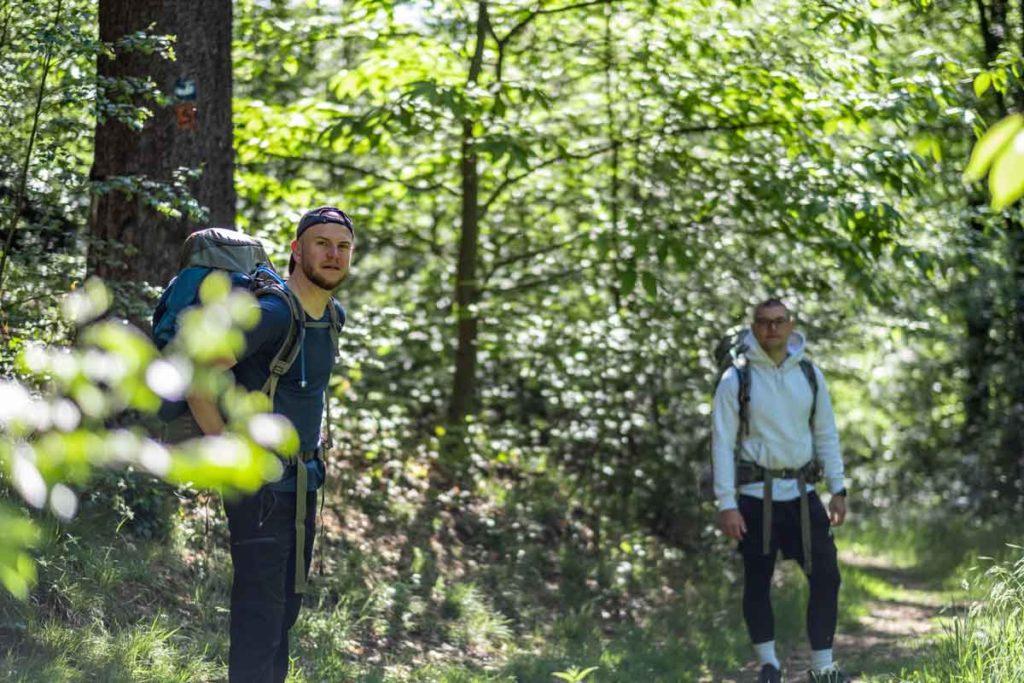 Jannik und Nico auf dem Natursteig Sieg