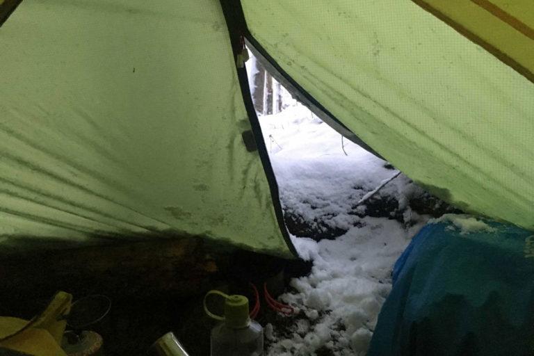 Warme Nacht im Schlafsack
