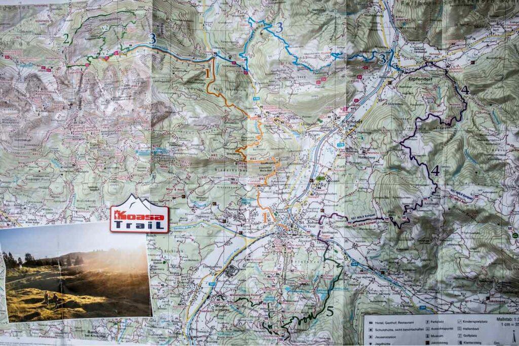 Koasa Trail Karte