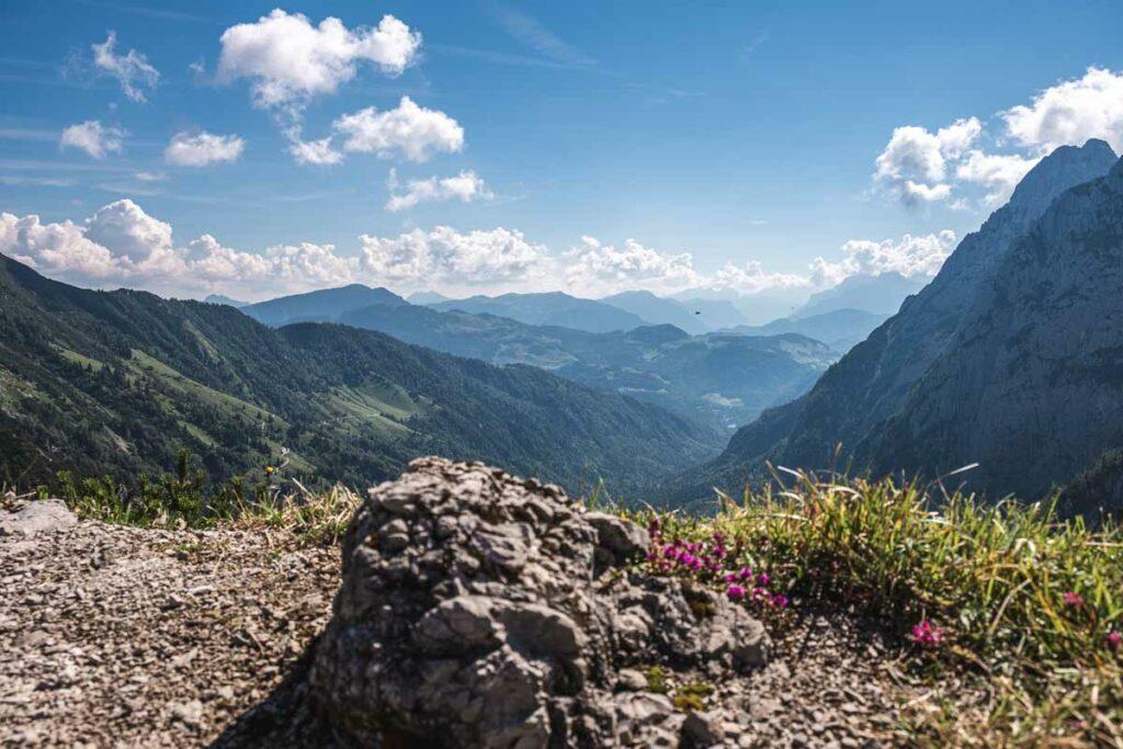 Blick ins Kaiserbachtal auf der Koasa Trail Etappe 2