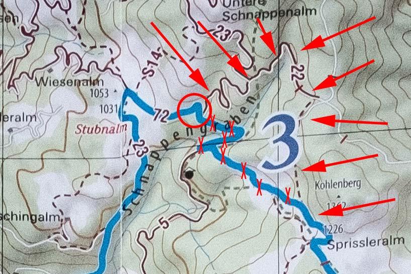 Falscher Weg Koasa Trail Etappe 3