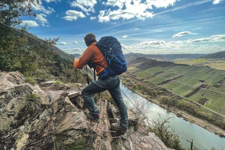 Calmont Klettersteig Aussicht auf die Mosel