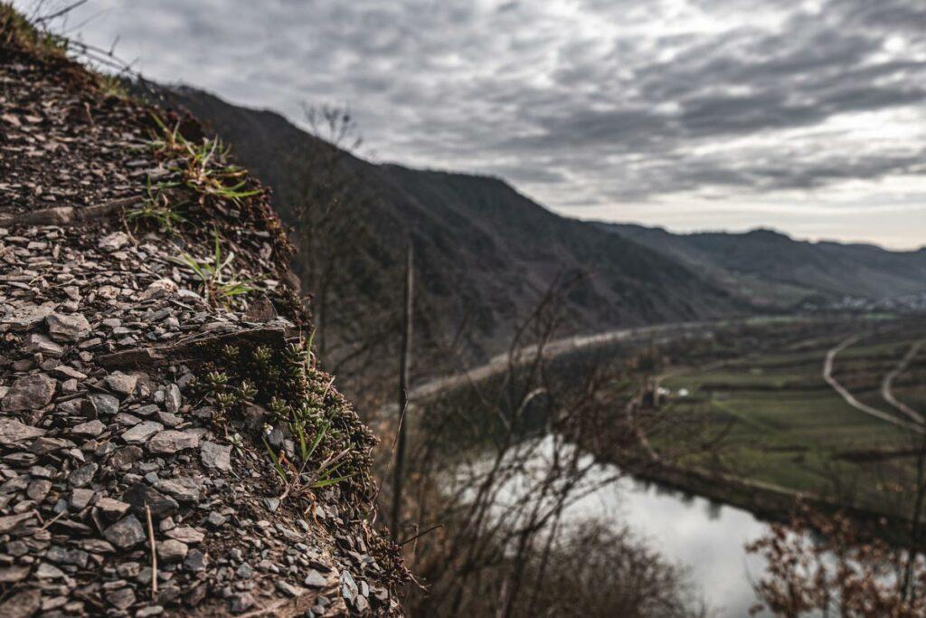 Aussicht auf die Mosel vom Calmont Klettersteig