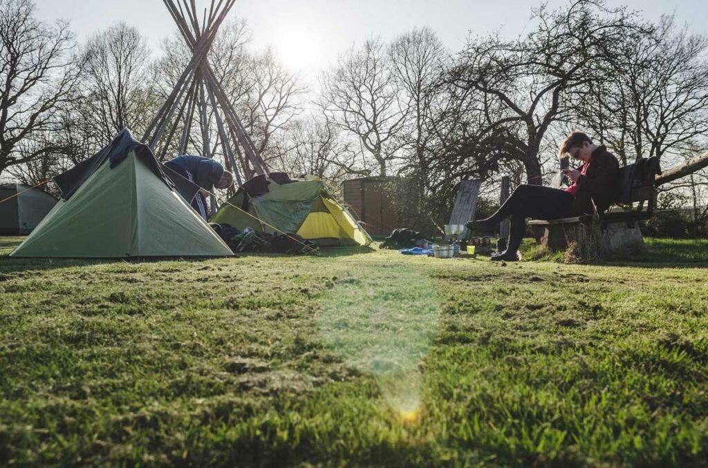 Zelt Ratgeber - Camping auf einem Campingplatz auf dem Eifelsteig