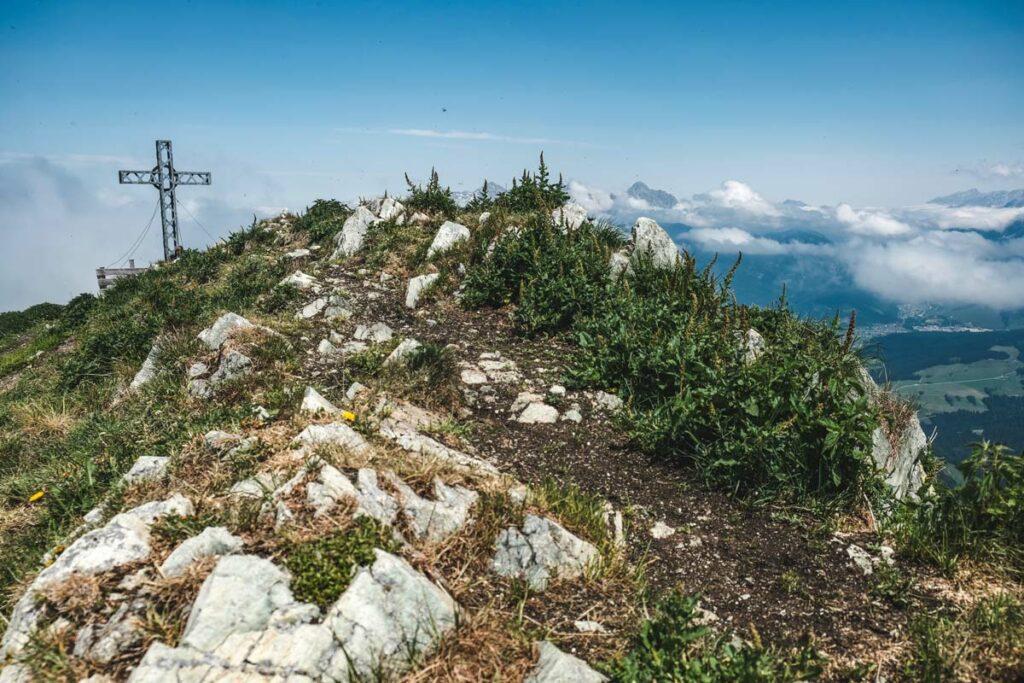 Gipfel Henne auf 2078m Höhe