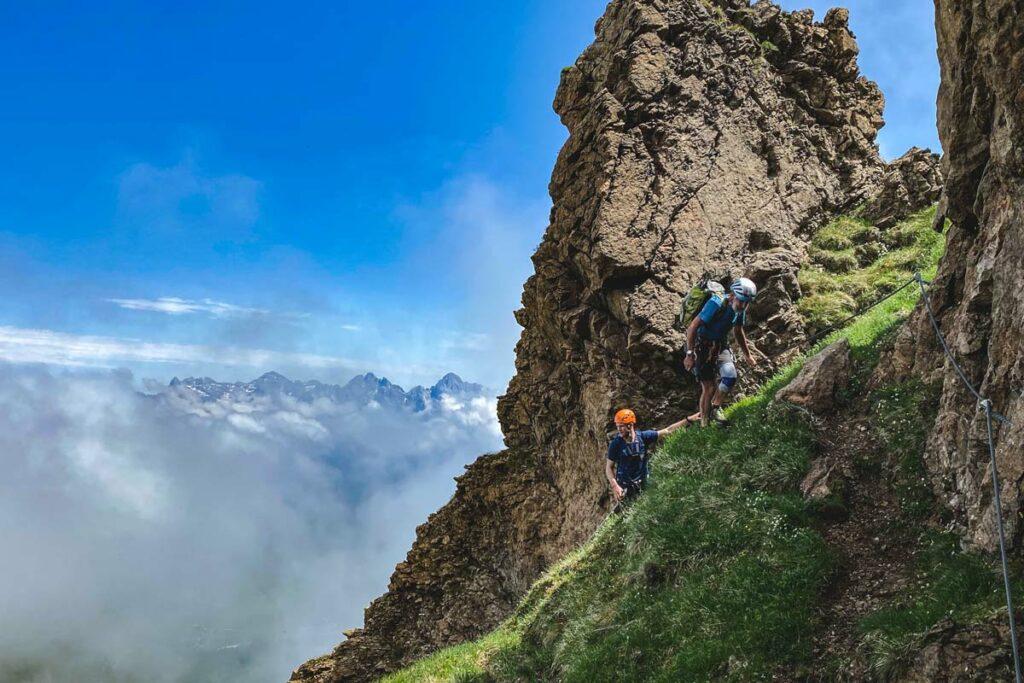 Ausblick vom Marokka Klettersteig auf die Steinberge