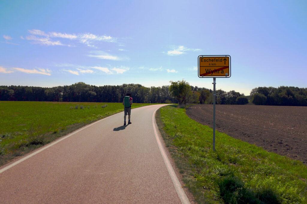 Weg nach Altenburg - Berlin München Fernwanderung