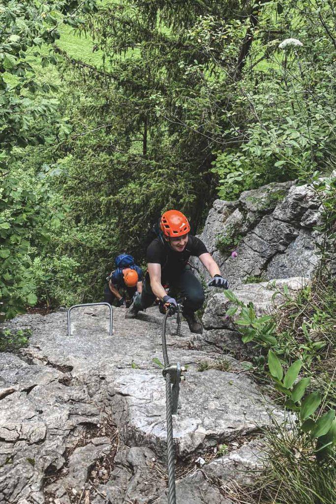 Ausstieg-Einstiegswand-Weisse-Gams-Klettersteig-bei-lofer