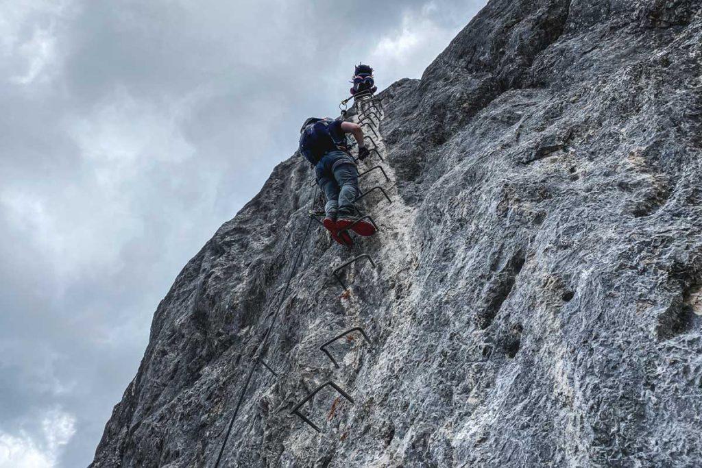 Einstiegswand Klettersteig Leogang Nord