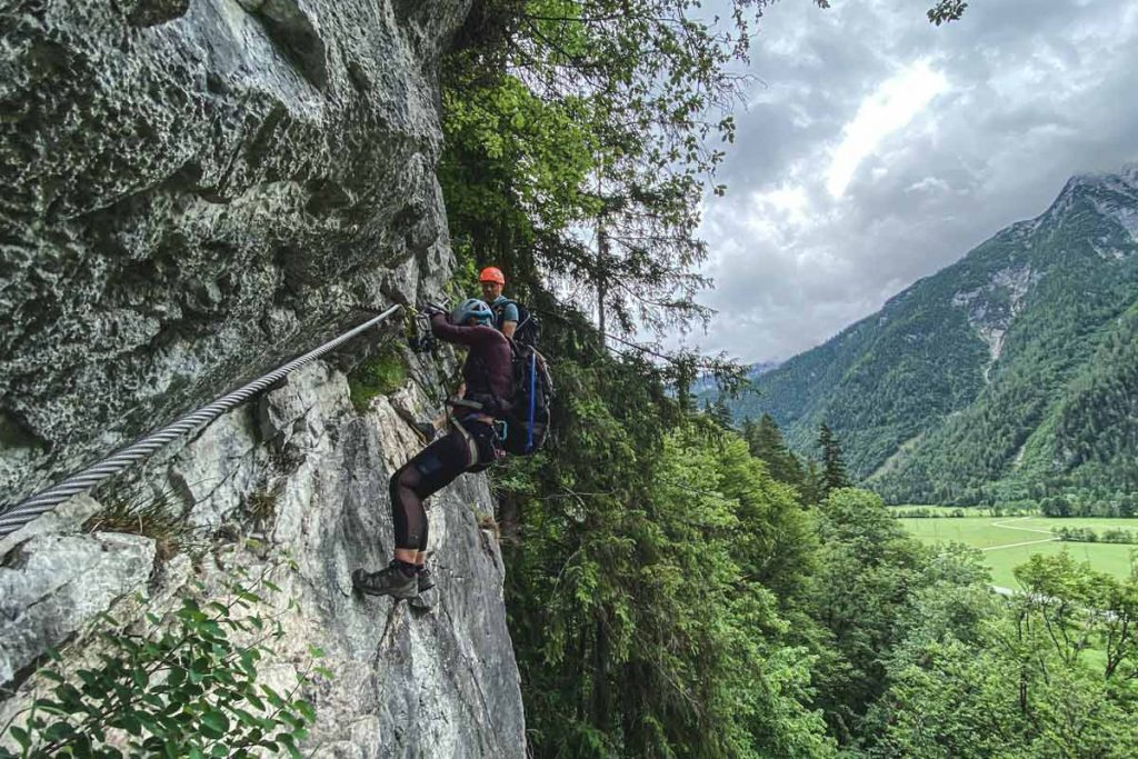 Querung-Klettersteig-Weisse-Gams-Lofer