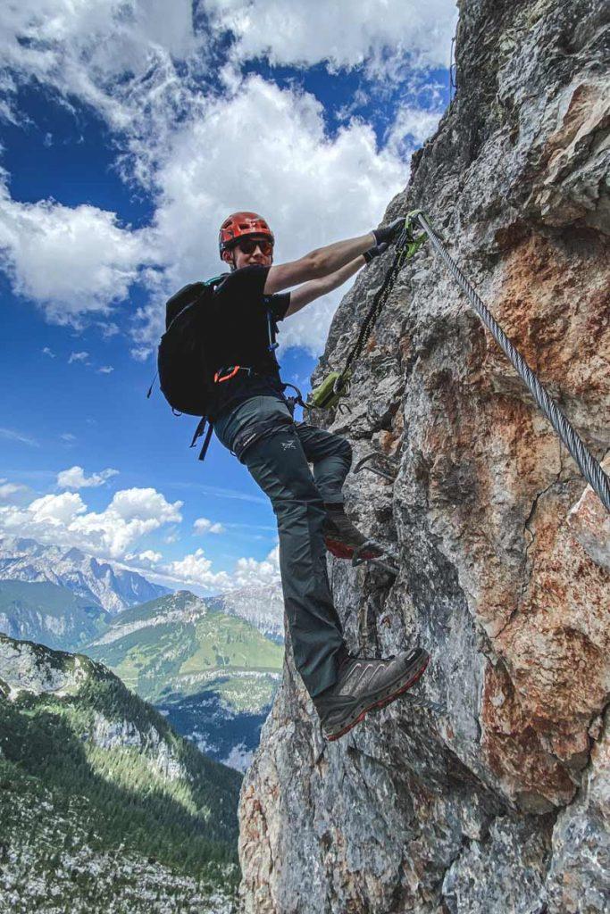 Thomas auf dem Klettersteig Leogang Nord