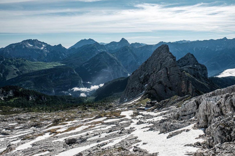 Wanderung zum Hochzint mit Blick auf die Berchtesgadener Alpen