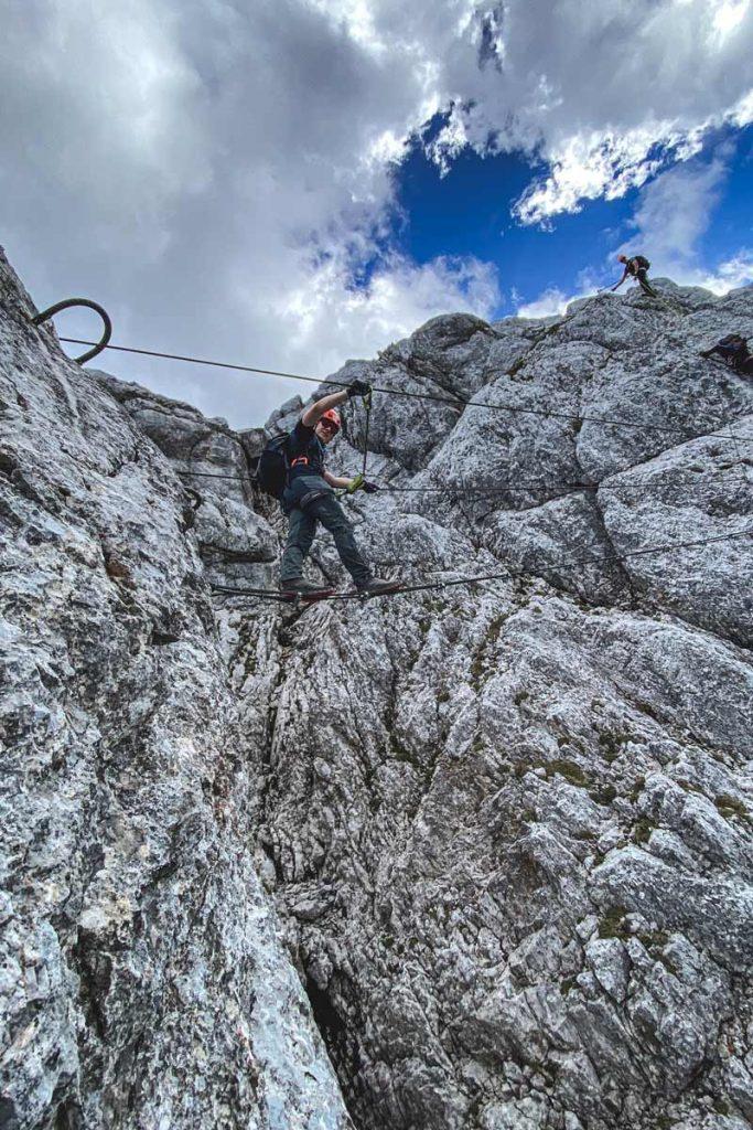 Seilbrücke Klettersteig Leogang Nord